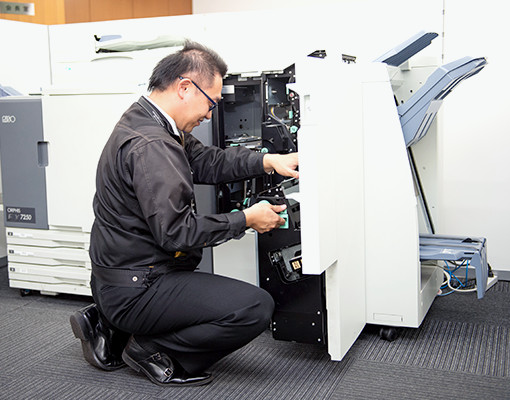 プリンター等の事務用機器導入サポート、メンテナンス イメージ